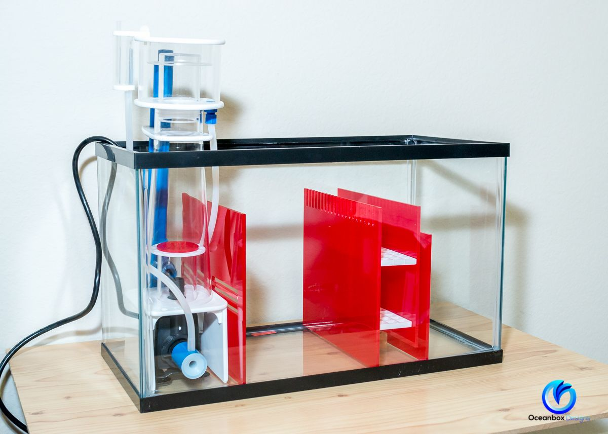 Deluxe Sump Kit For 10 Gallon Aquarium Ruby Red